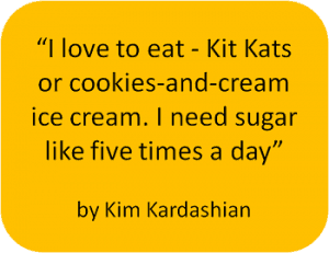Kim Kardashian on sugar