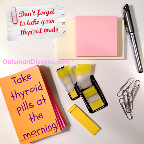 Easy thyroid pills reminder
