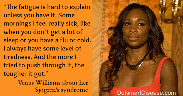 Venus Williams speaks about her autoimmune disease