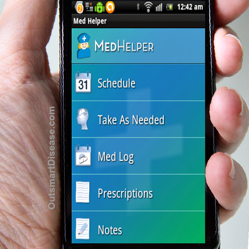 Medication reminder mobile app